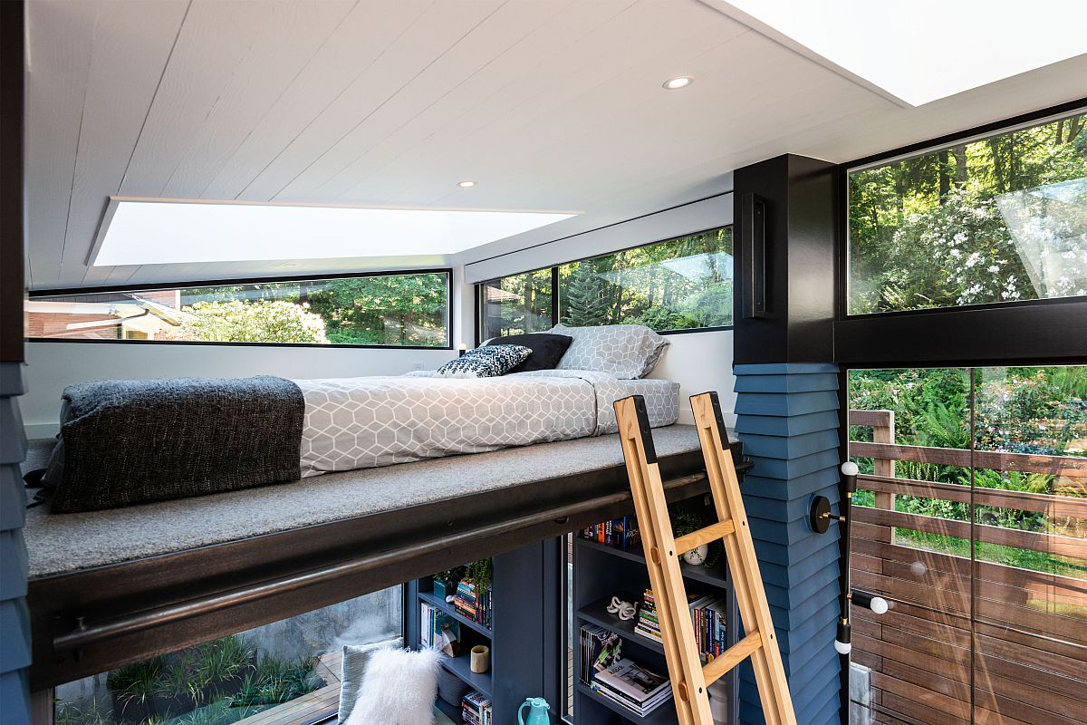 Loft level bedroom for the backyard reading retreat