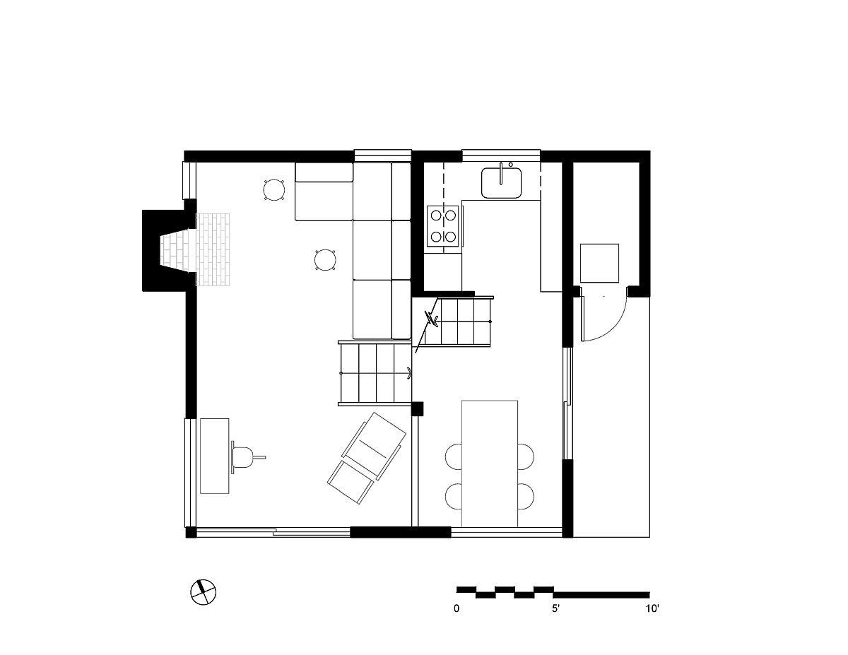 Lower level floor plan of the sensational Californian escape