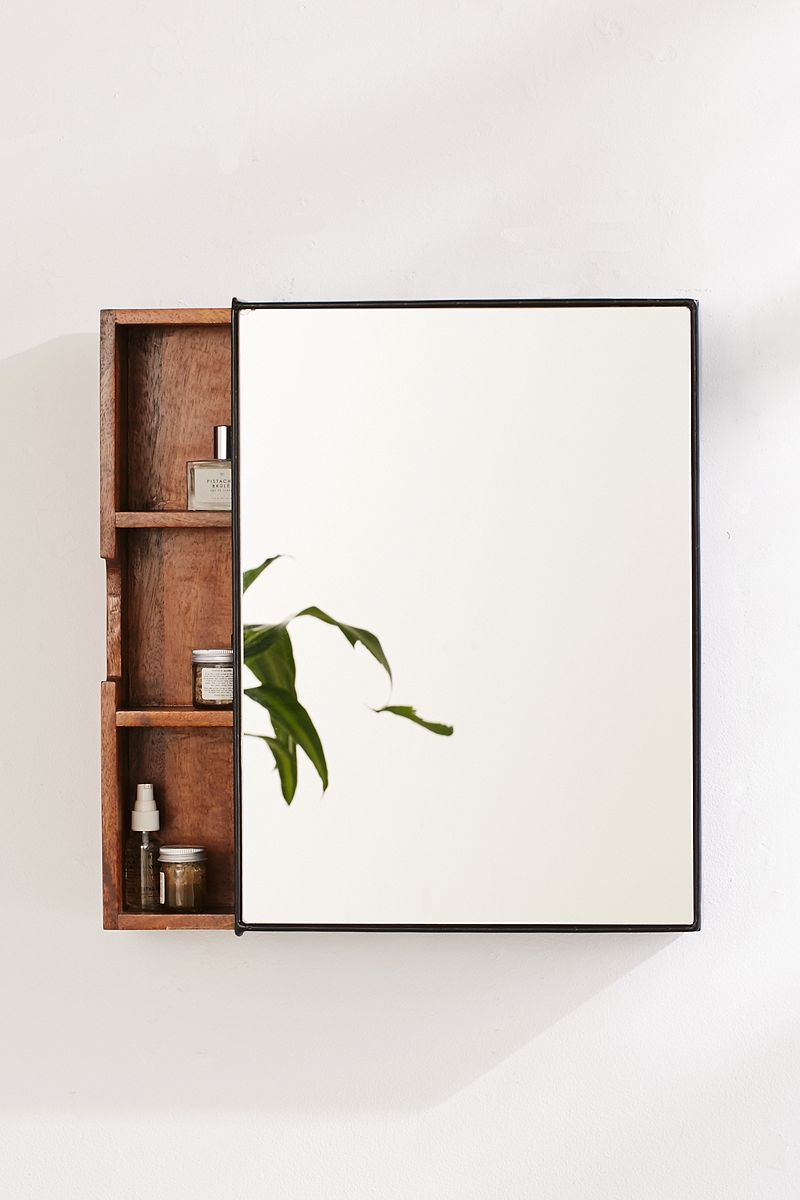 Mango wood medicine cabinet