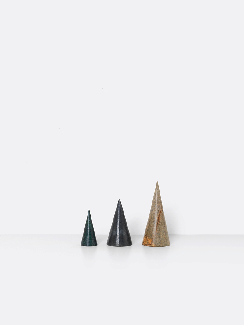 Marble cones from ferm LIVING