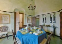 Mediterranean-style-dining-room-with-textured-green-walls-217x155
