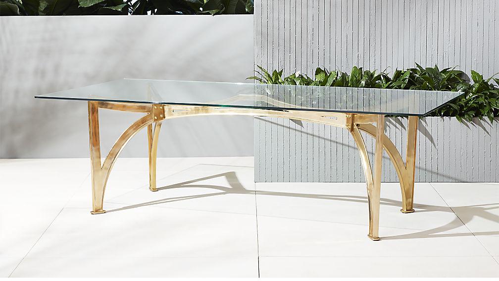 Metal and glass table
