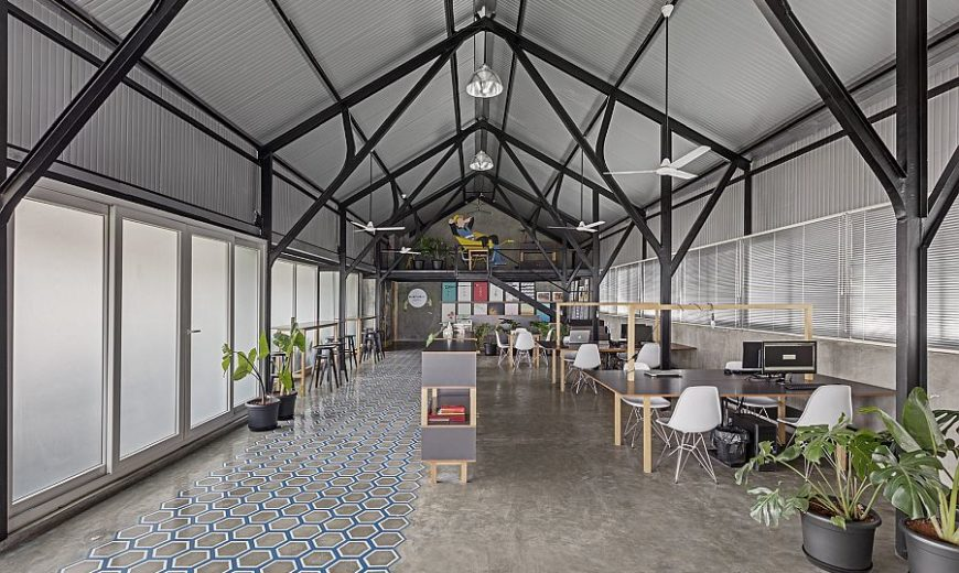 This Modern Industrial Workspace Has a Unique Personality of Its Own!