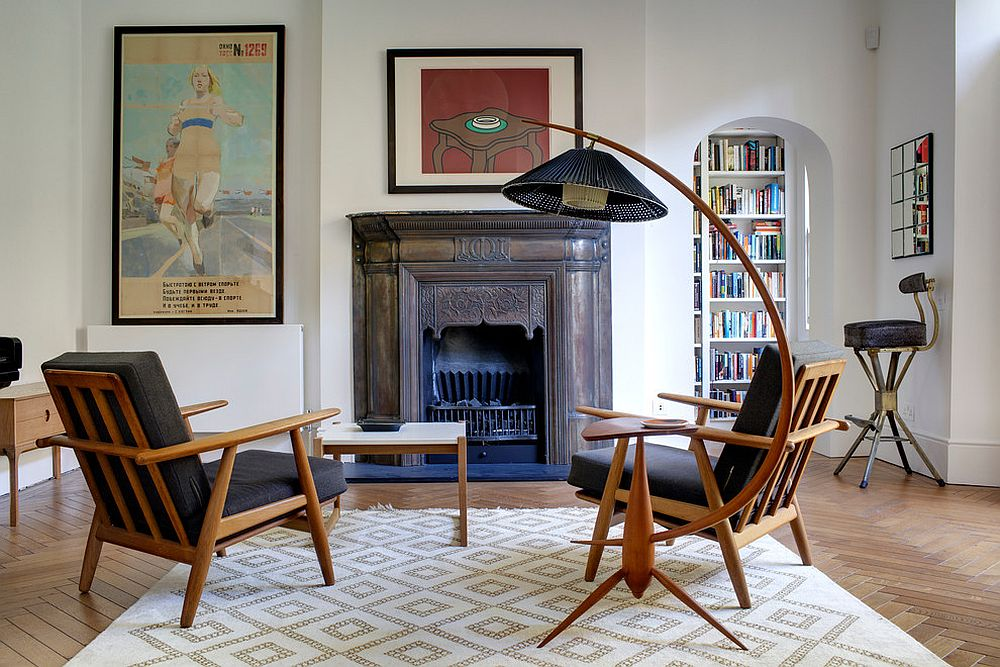 Neutral-rug-with-pattern-for-the-midcentury-modern-living-room