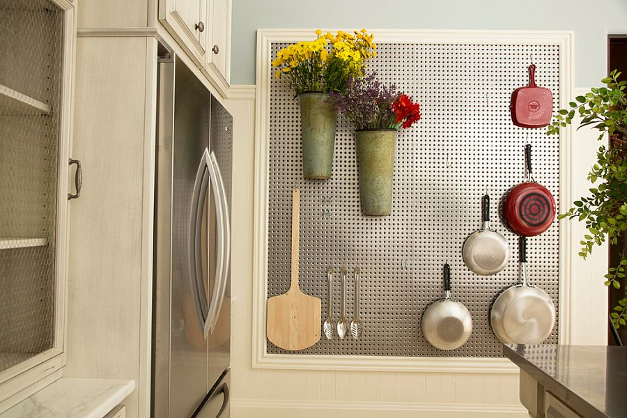 Pegboard wall can also double as a lovely display!
