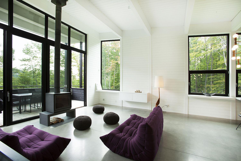 Plush-purple-Togo-sofas-for-the-living-room