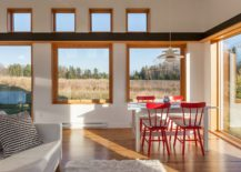 Red-dining-table-chiars-bring-pop-of-brightness-to-the-dining-room-217x155