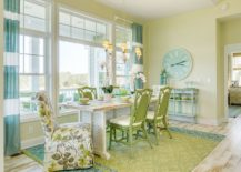 Relaxing-beach-style-dining-room-in-light-green-and-blue-217x155