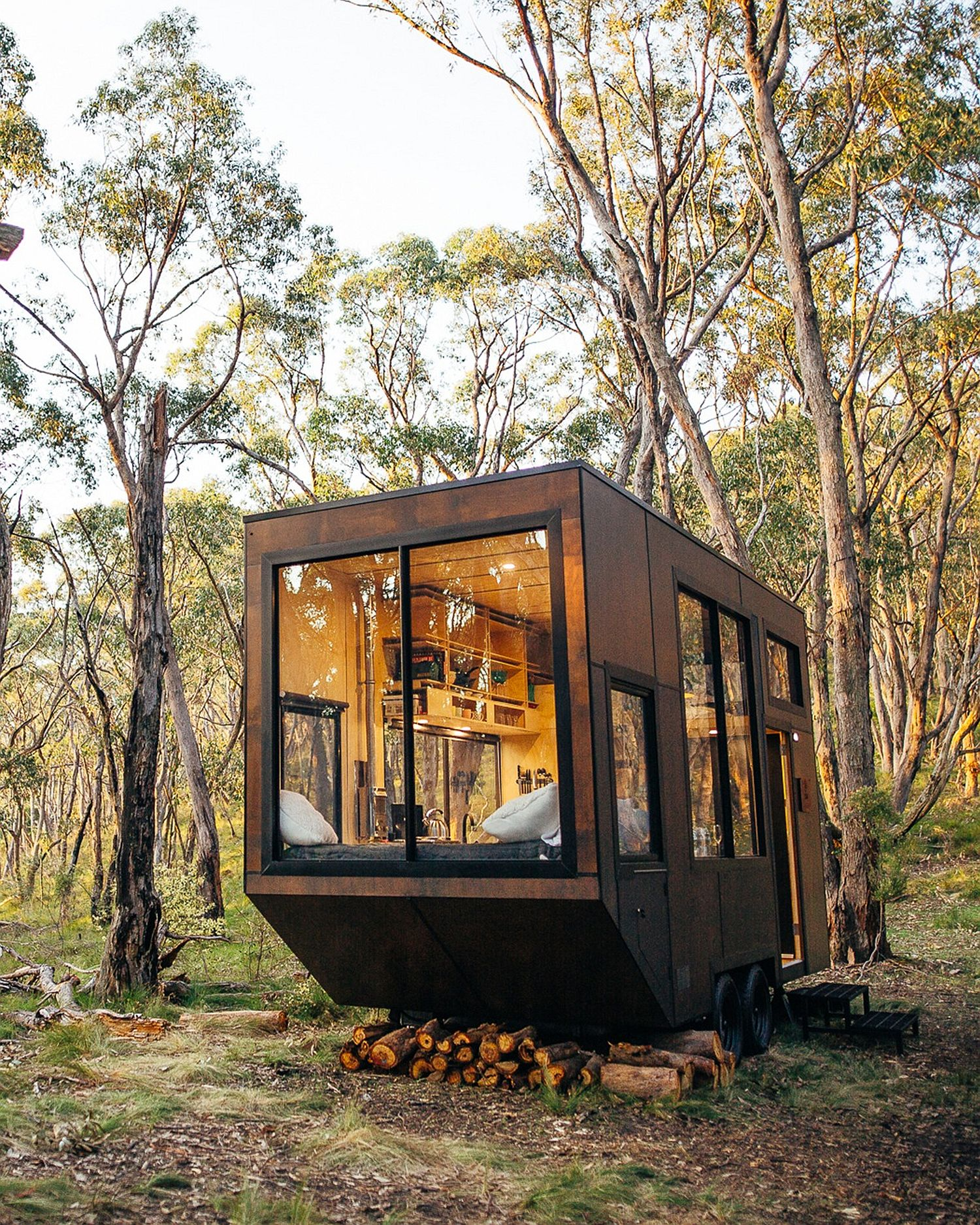 Relaxing tiny cabin can be customized to meet your exact needs