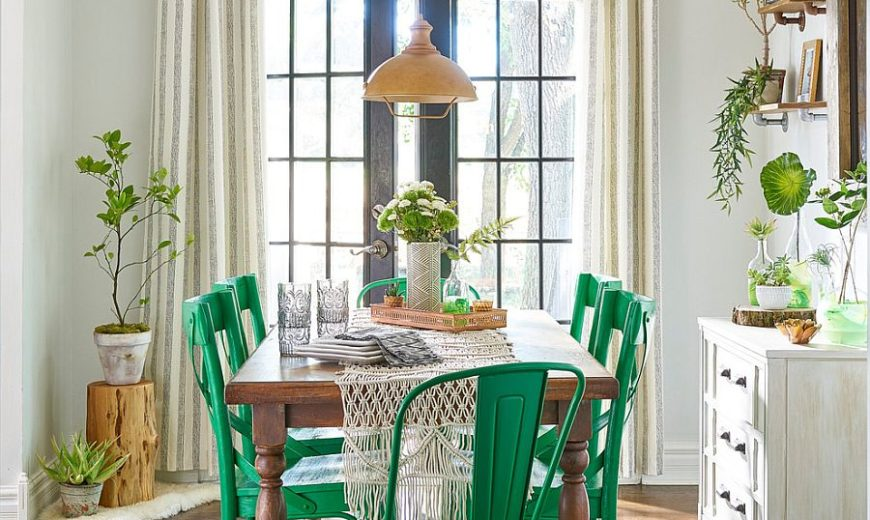 Gorgeously Refreshing: Versatile Green Dining Rooms in Different Styles