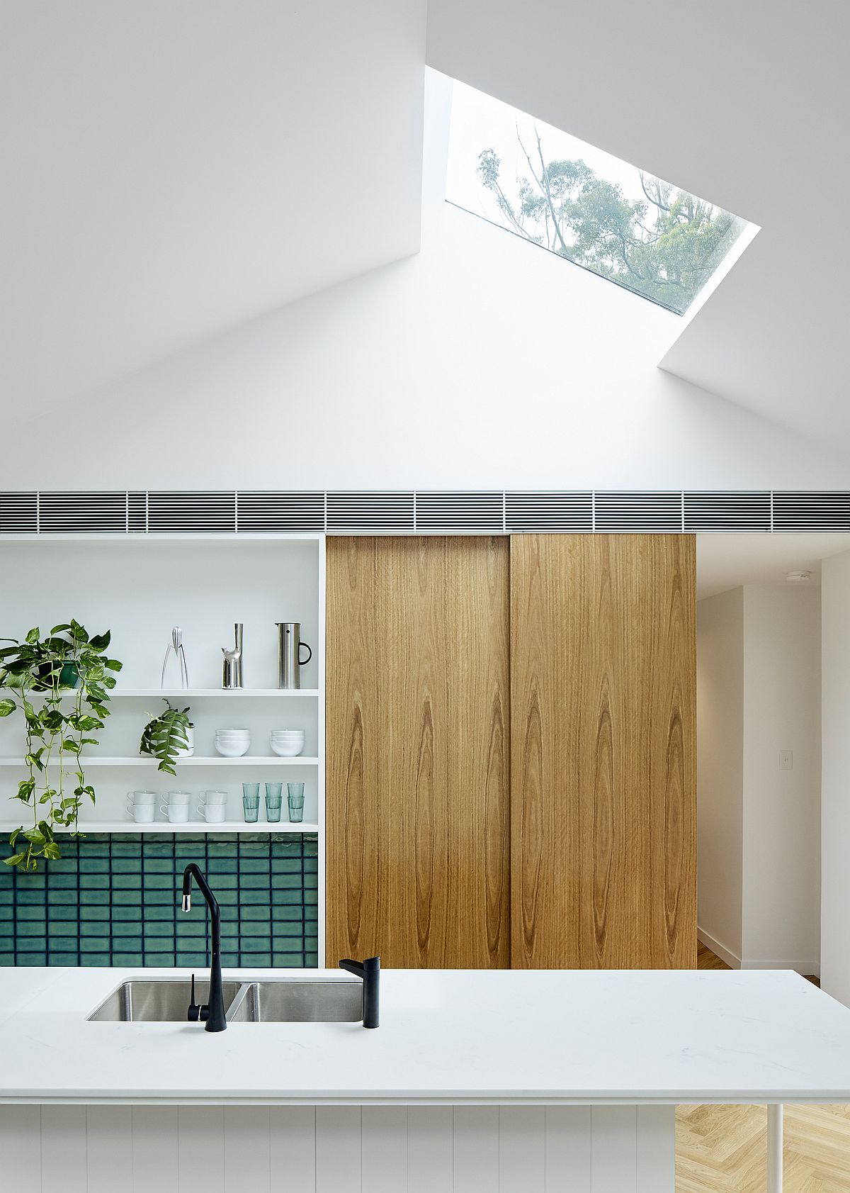 Skylight-brings-ample-natural-light-into-the-kitchen
