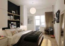 Small-bedroom-of-the-apartment-with-shelving-above-the-bed-217x155