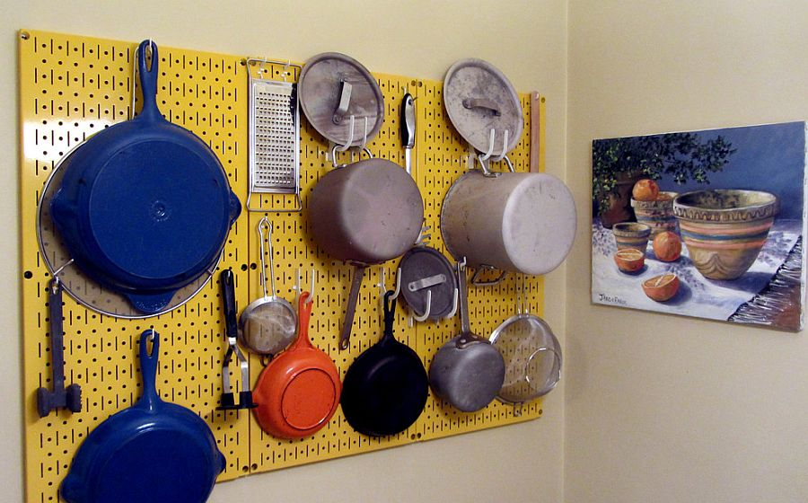 Smart pegboard fits into any kitchen corner with ease