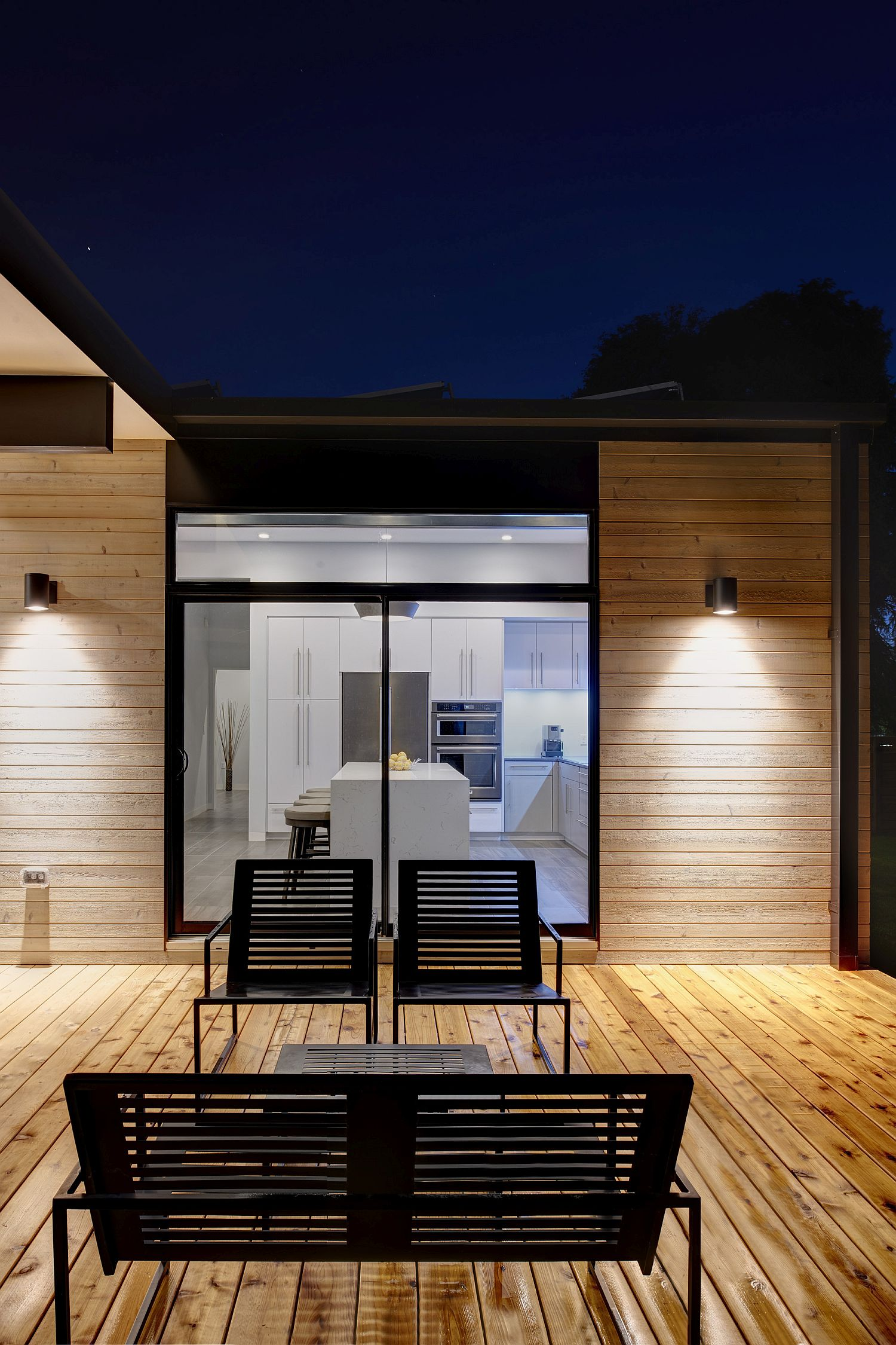 Smart wooden deck provides a relaxing escape at home
