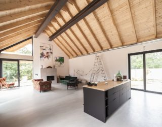 Minimal Wooden One Family House in Poland Connects with the Outdoors