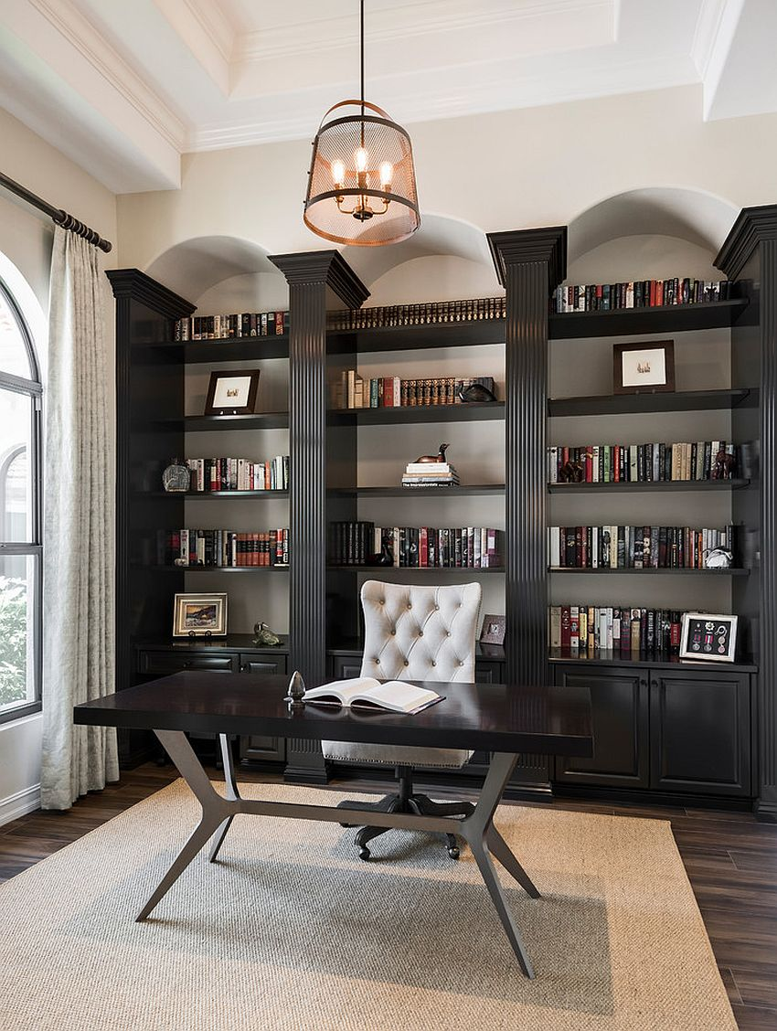 25 Home Office Shelving Ideas for an Efficient, Organized ...