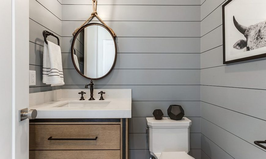 Refined and Refreshing: Trendy Powder Rooms in Gray and Turquoise