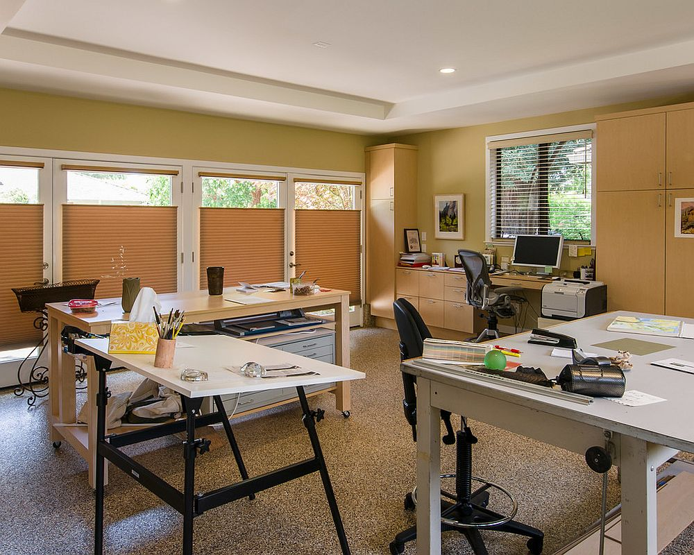 Turn the garage into a cool and lovely home office