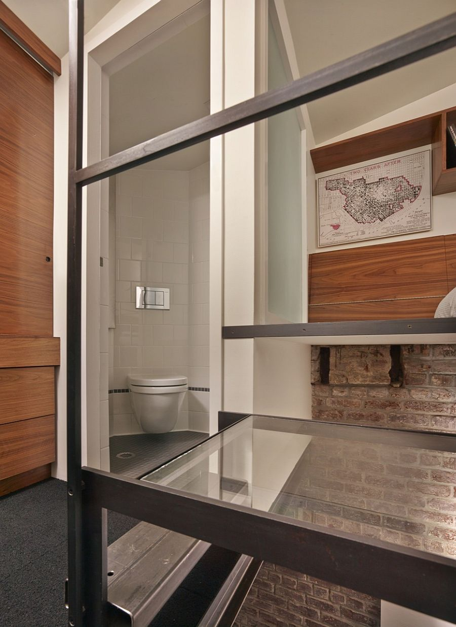 Uber-tiny bathroom for the small guest apartment unit