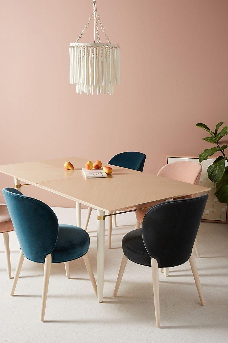 Velvet dining chairs from Anthropologie