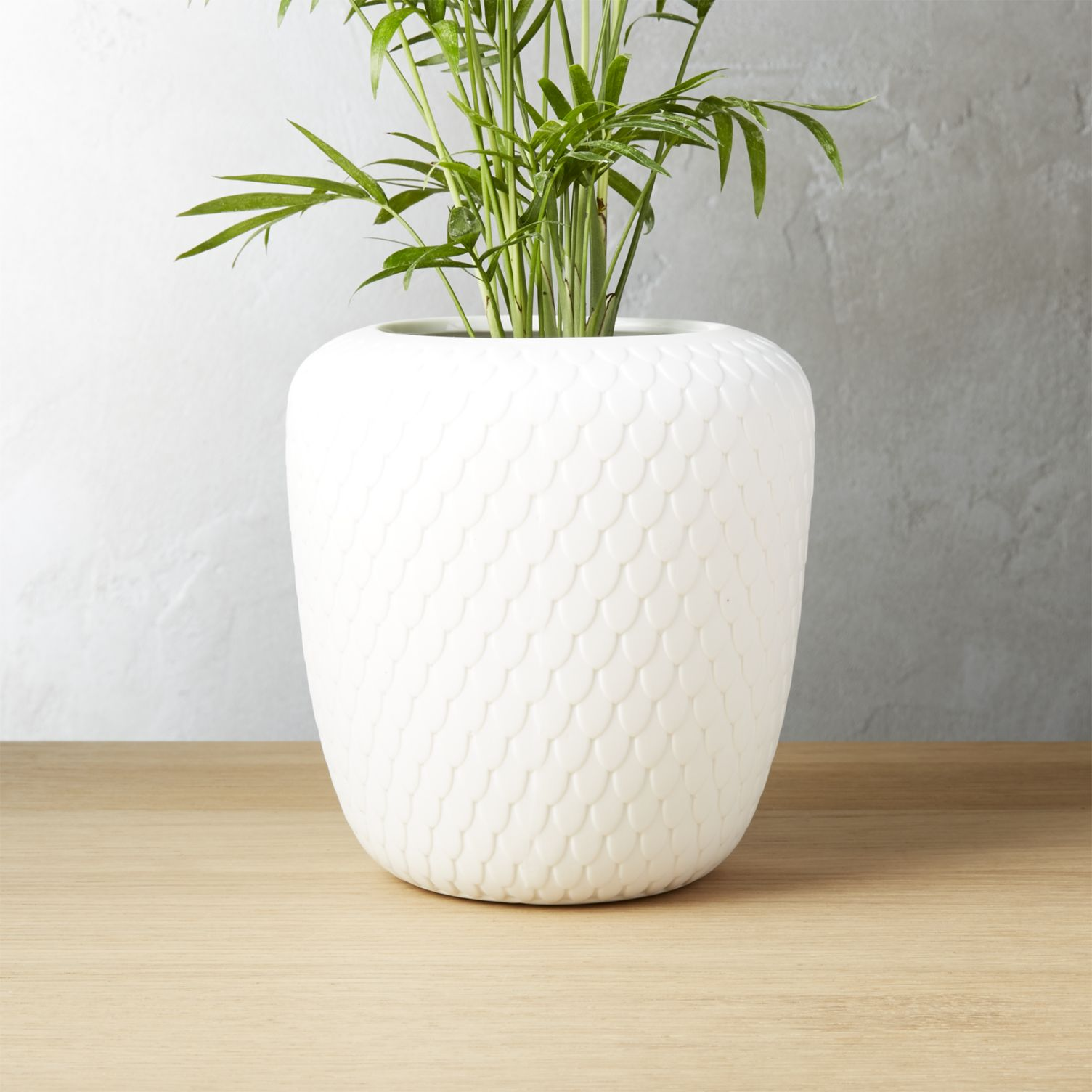 White planter from CB2