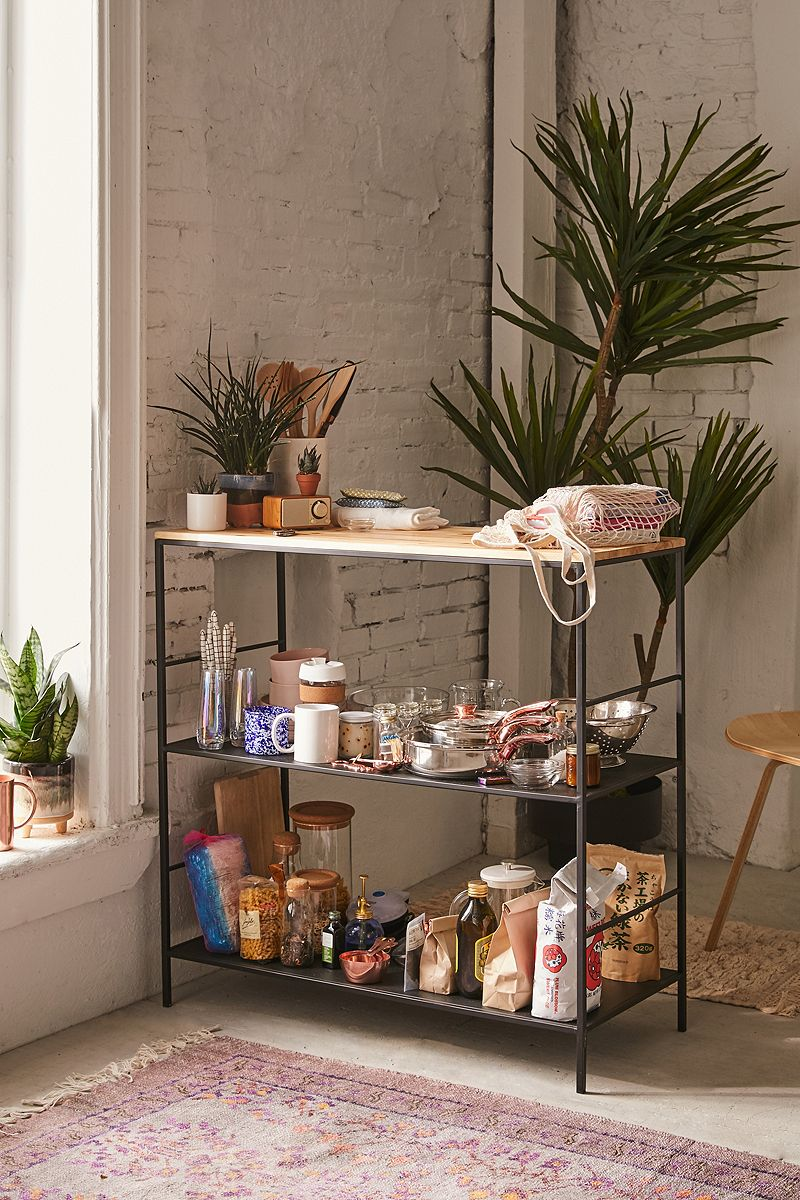Wood and metal counter table from Urban Outfitters