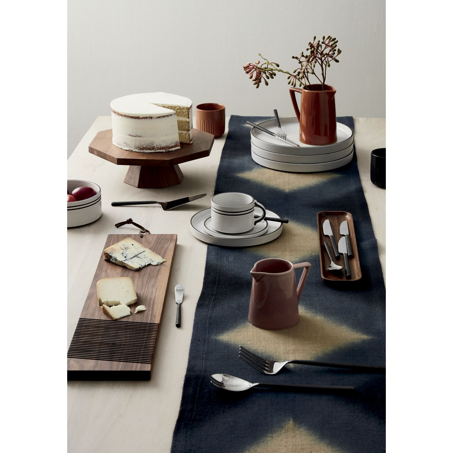 An assortment of rich, earthy tones on a fall table by CB2
