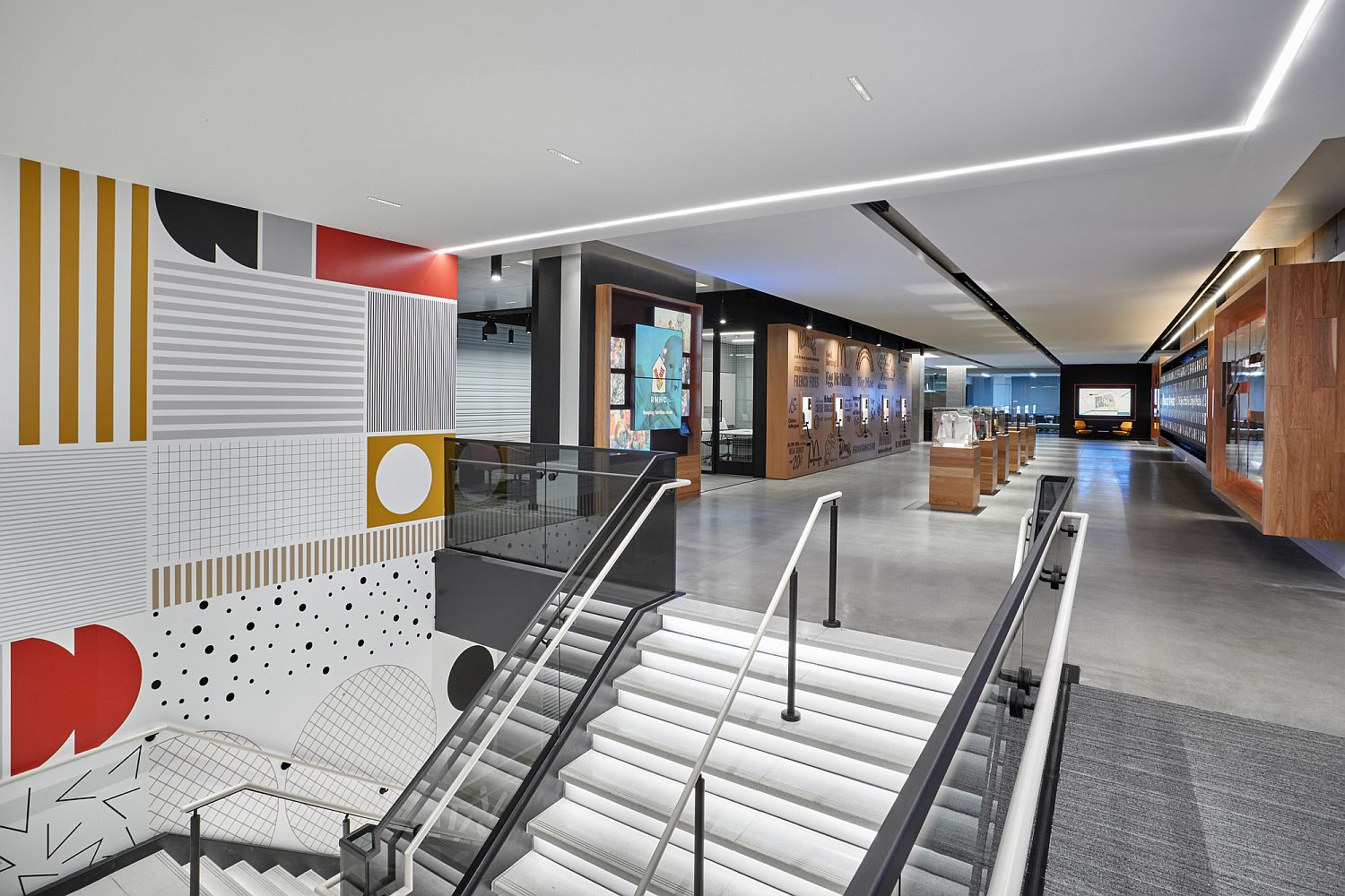 Colorful and gorgeous interior of the McDonald's Headquarters