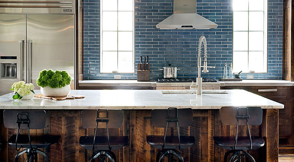 Custom-wooden-finish-for-the-kitchen-island-gives-it-that-rustic-appeal