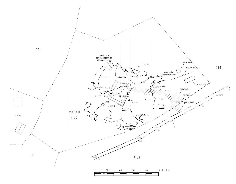 Design plan of the Torekov House in Sweden