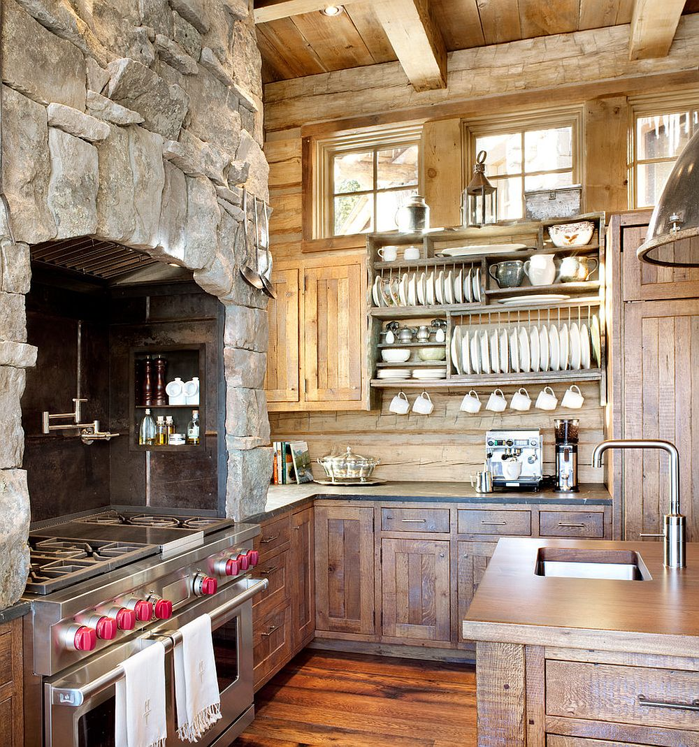 Fabulous rustic kitchen feels cozy and timeless!