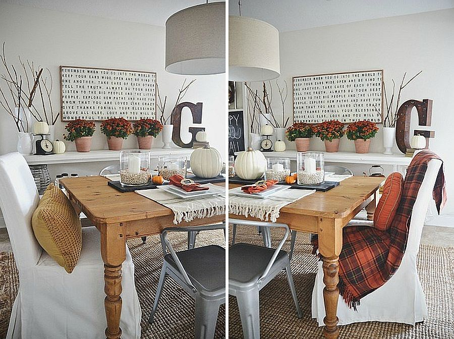 Fall dining room idea with a dash of vintage