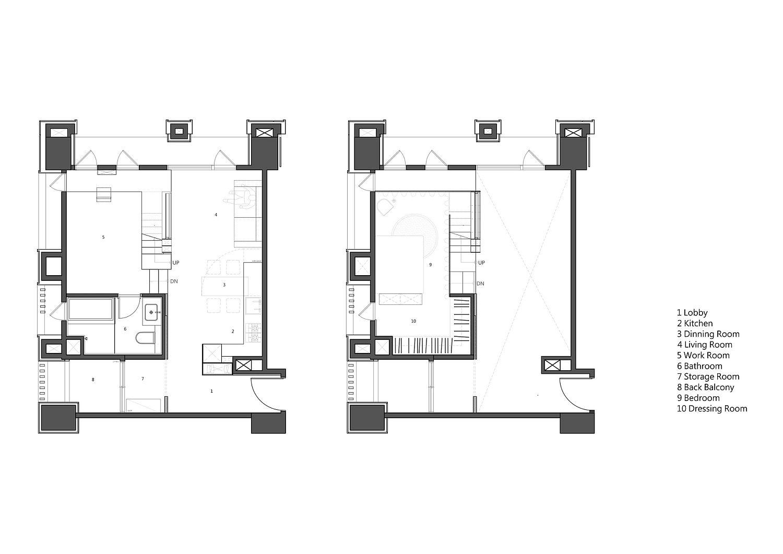 Floor plan of Apartment X in Taipei