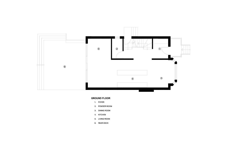 Ground floor plan of the Art House