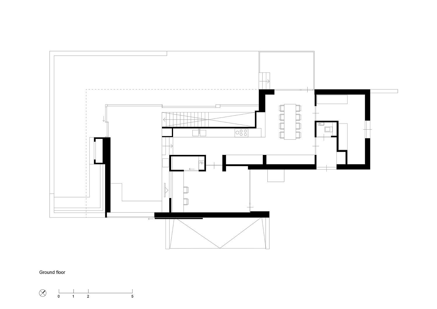 Ground floor plan of the Holiday House