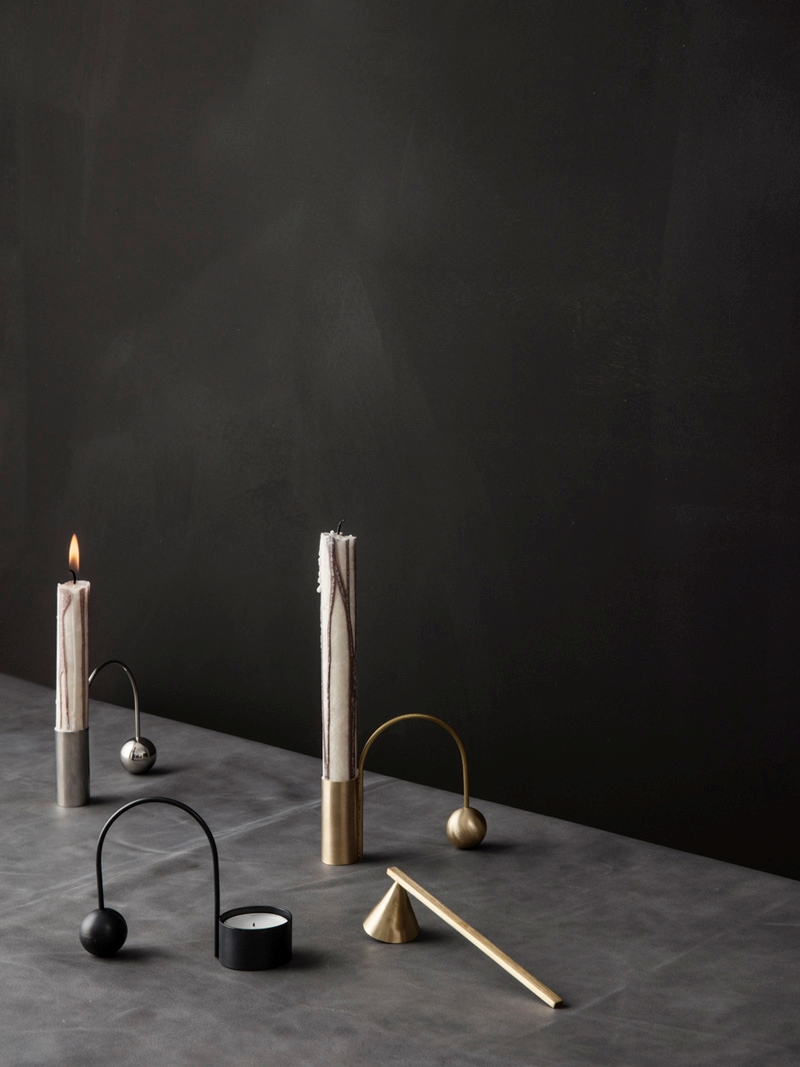 Modern candle holders from ferm LIVING