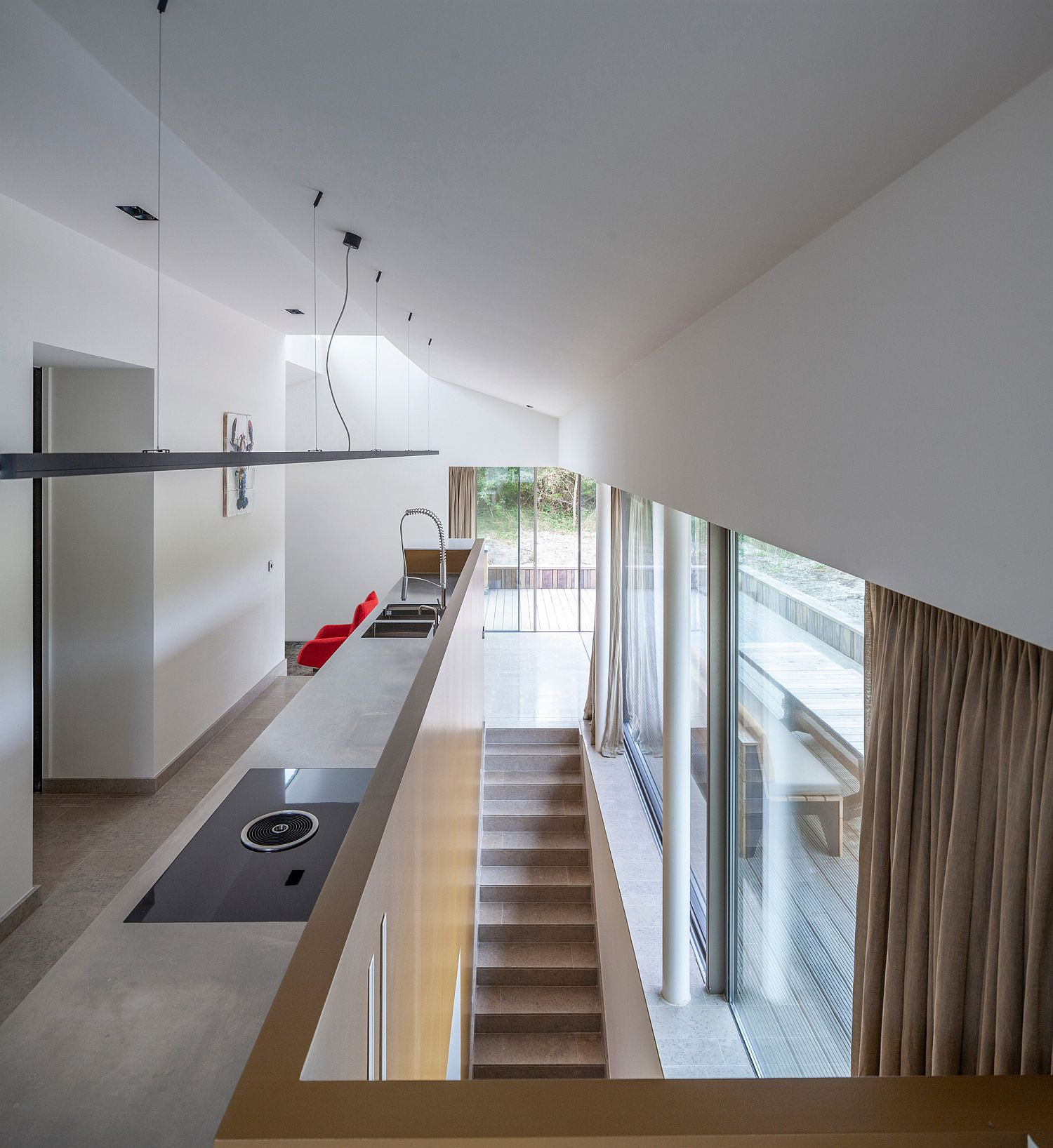 Multiple levels inside the home are filled with plenty of natural light