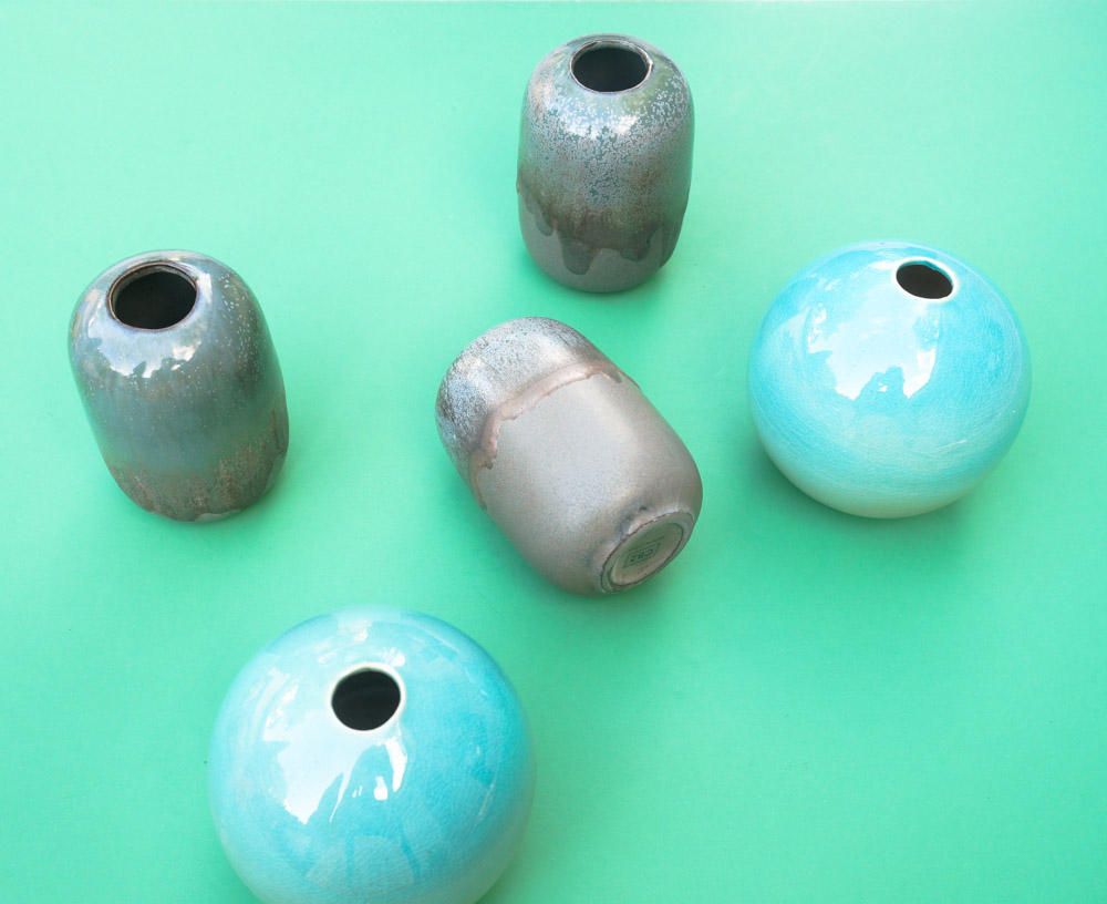 Petite modern vases from CB2