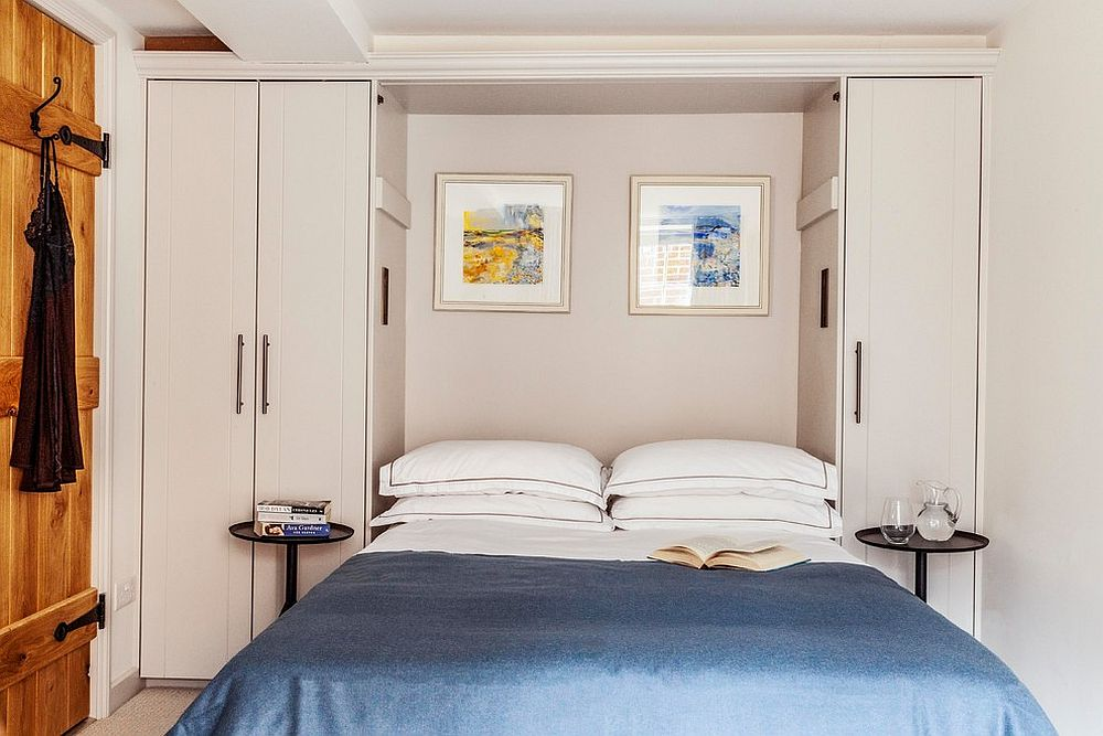 Replace white with beige in the bedroom