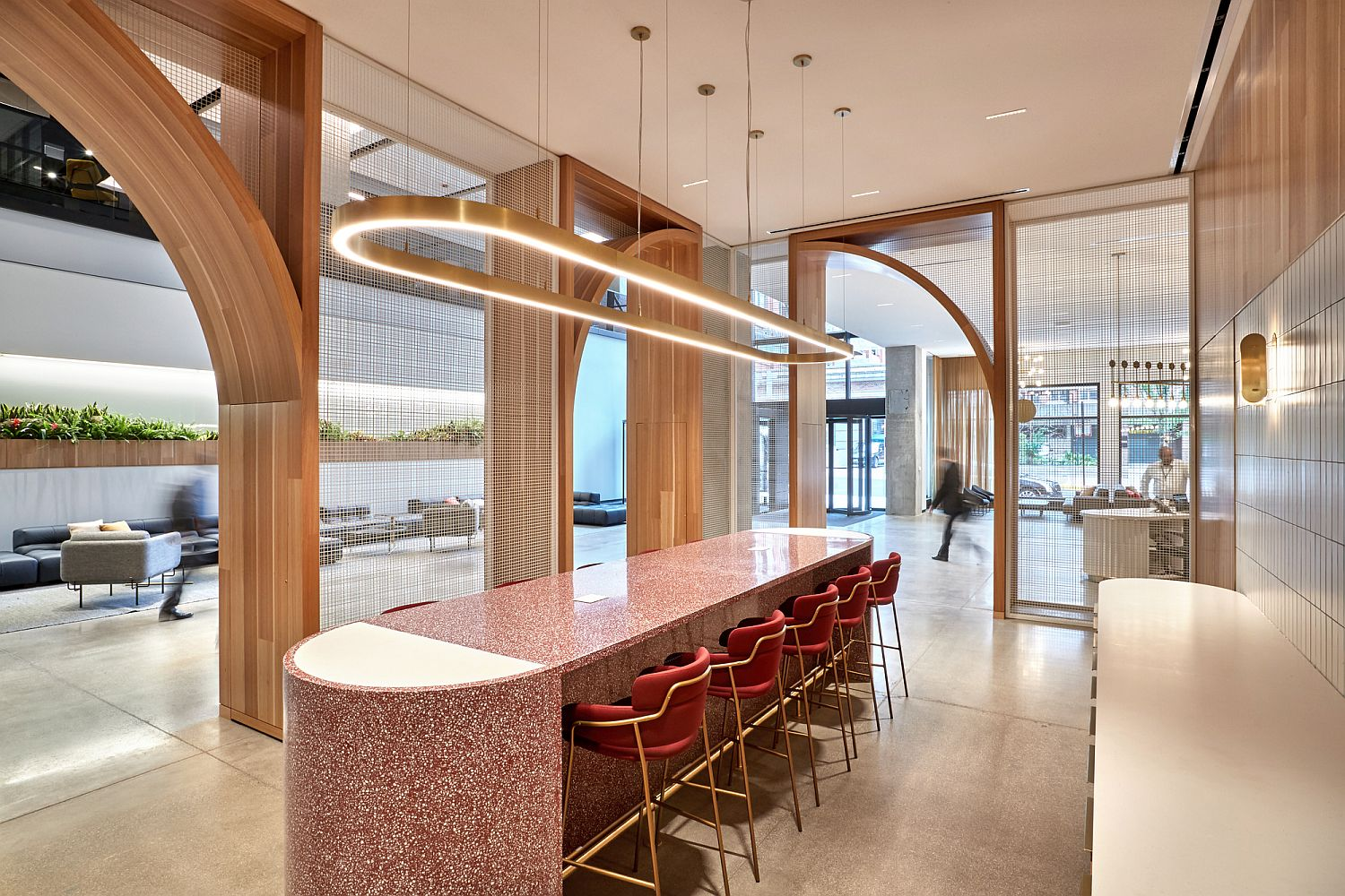 Smart and modern interior of the McDonald's HQ
