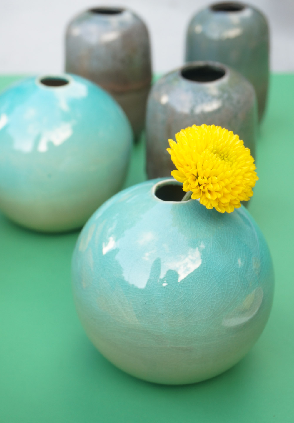 Spherical bud vase from CB2