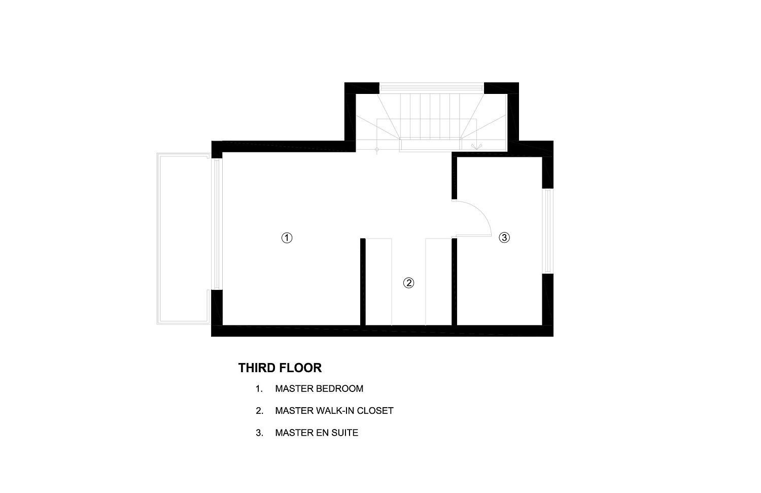 Third floor plan of the Art House