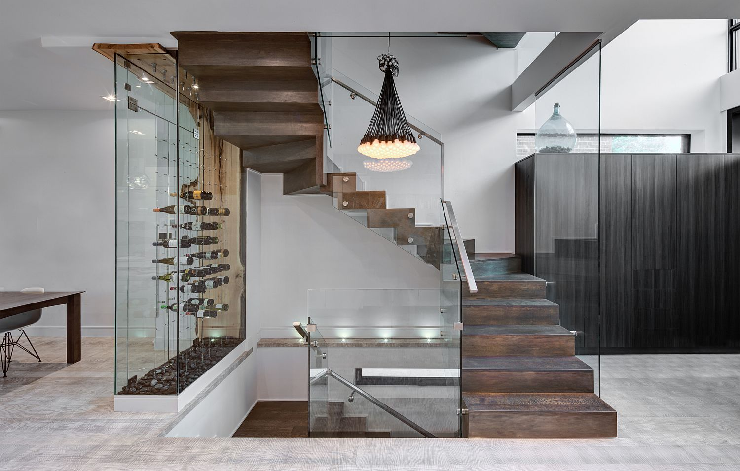 Wine-storage-and-display-area-next-to-the-staircase