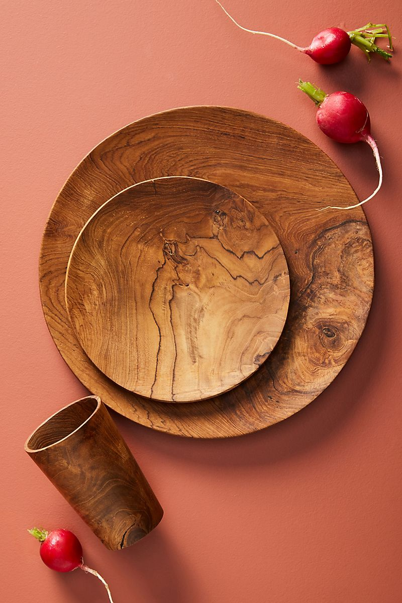 Wooden tableware from Anthropologie