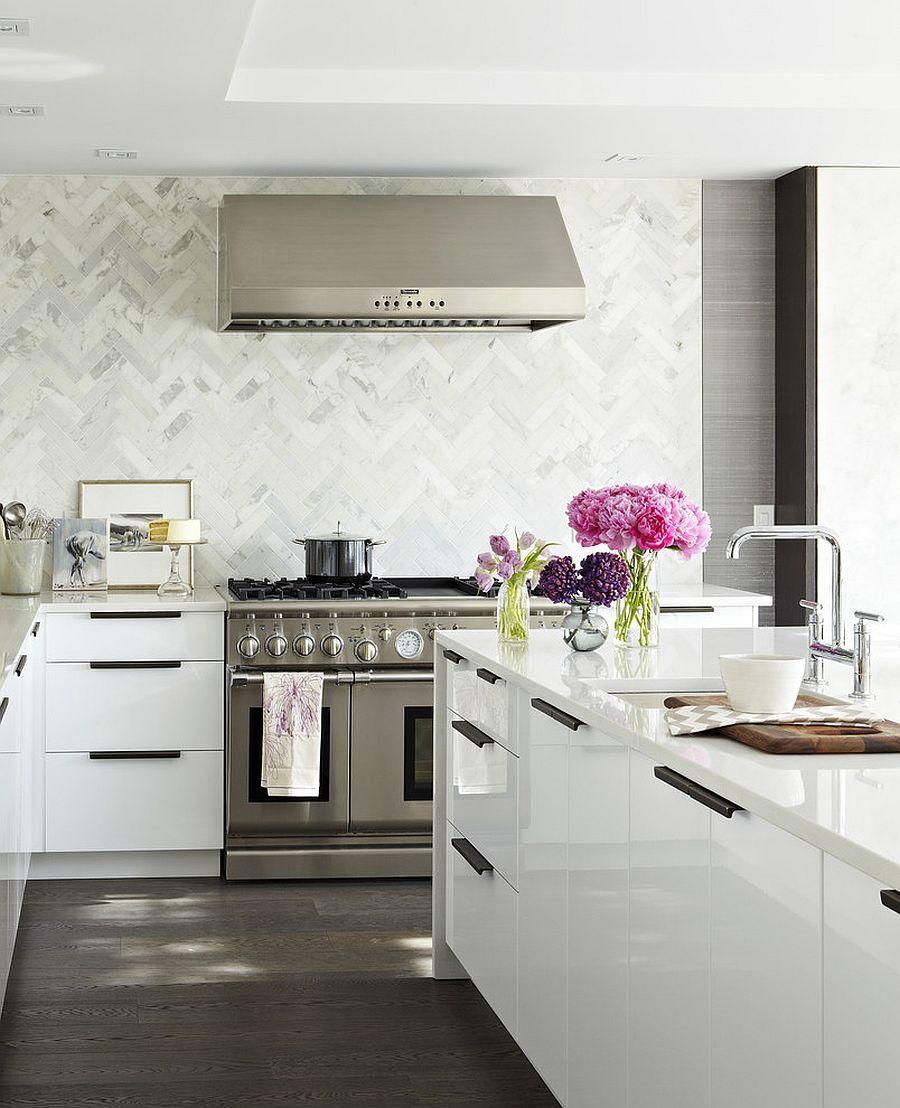 Adding-herringbone-pattern-to-the-kitchen-backsplash-without-disturbing-the-color-scheme
