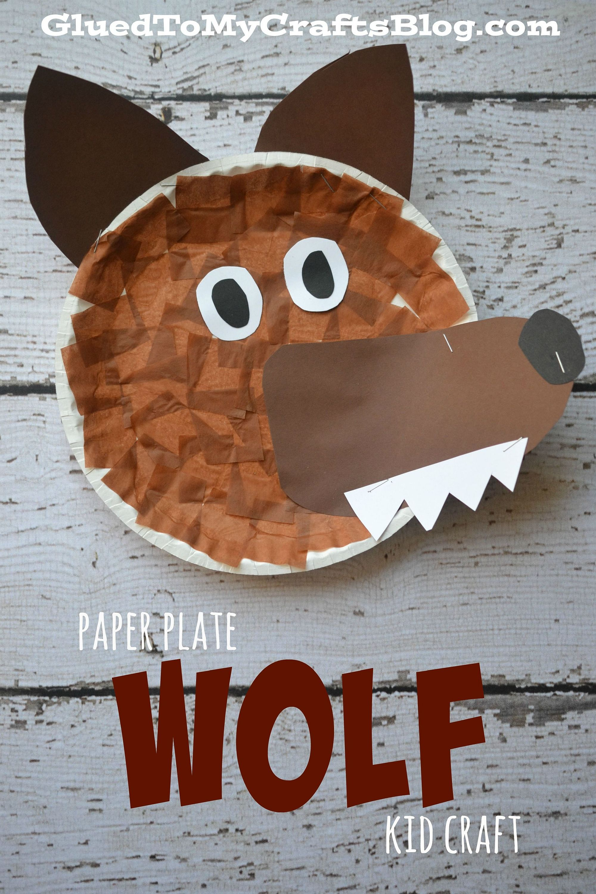 Another paper plate craft for this Halloween brings a bit of werewolf scare to your home