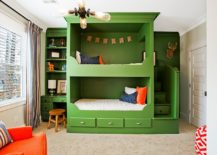 Bunk-bed-set-along-with-homework-station-next-to-it-adds-green-to-the-kids-room-217x155