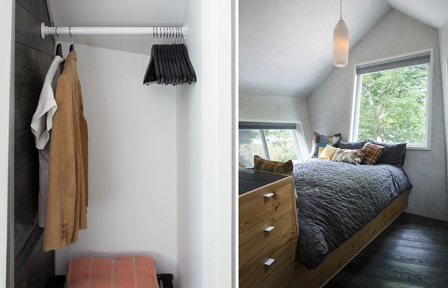 Closet for the bedroom along with space-savvy design