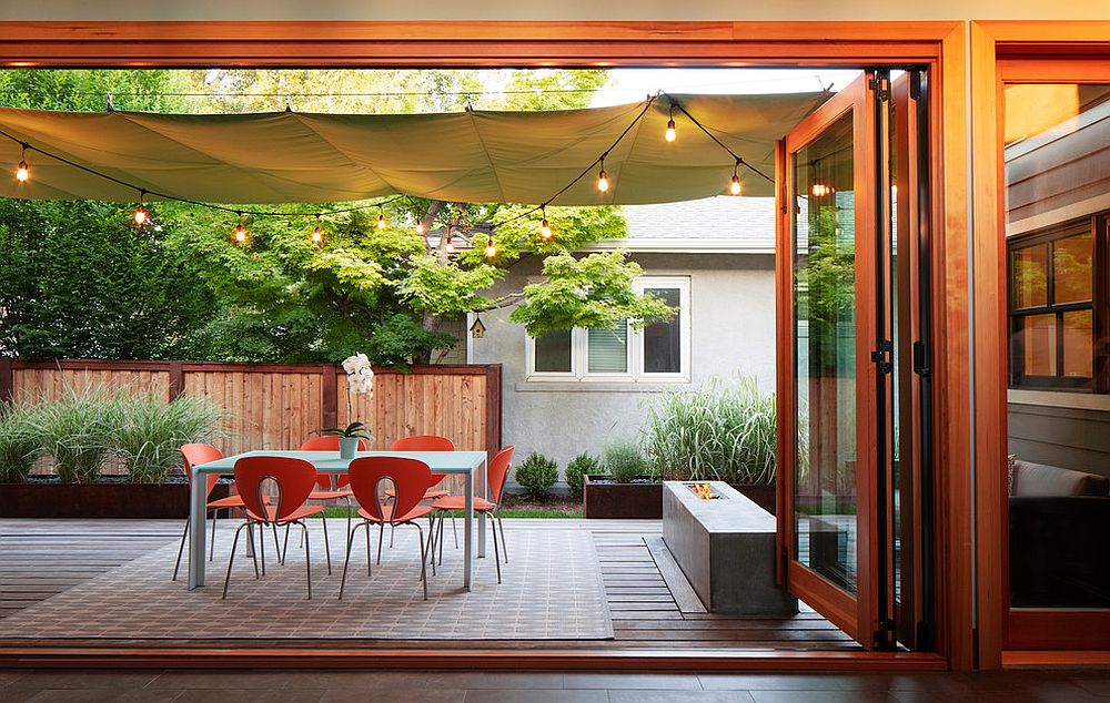 Courtyard shade moves away from the usual to offer a more flexible solution