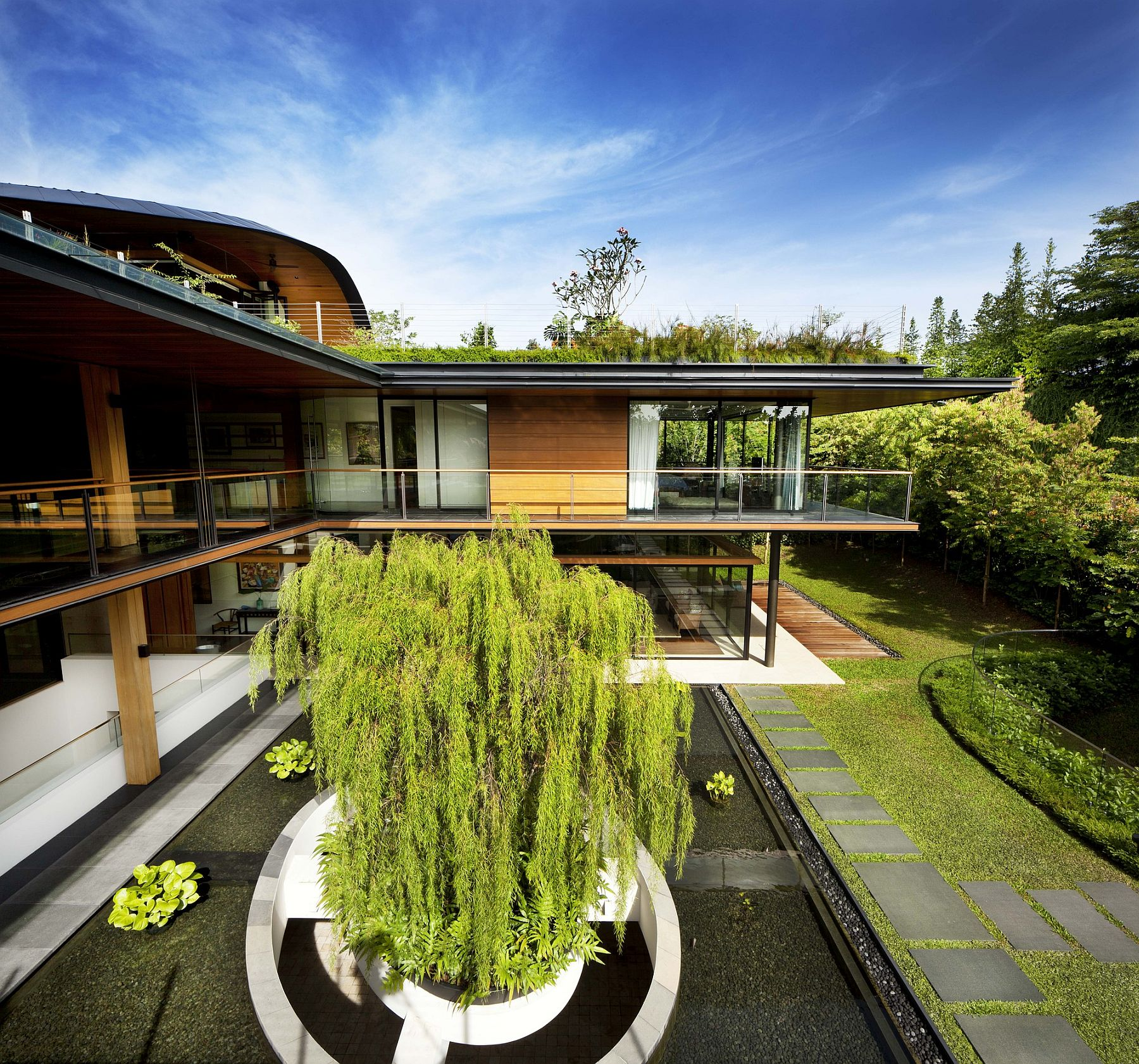 Curated landscape around the house makes a big visual impact